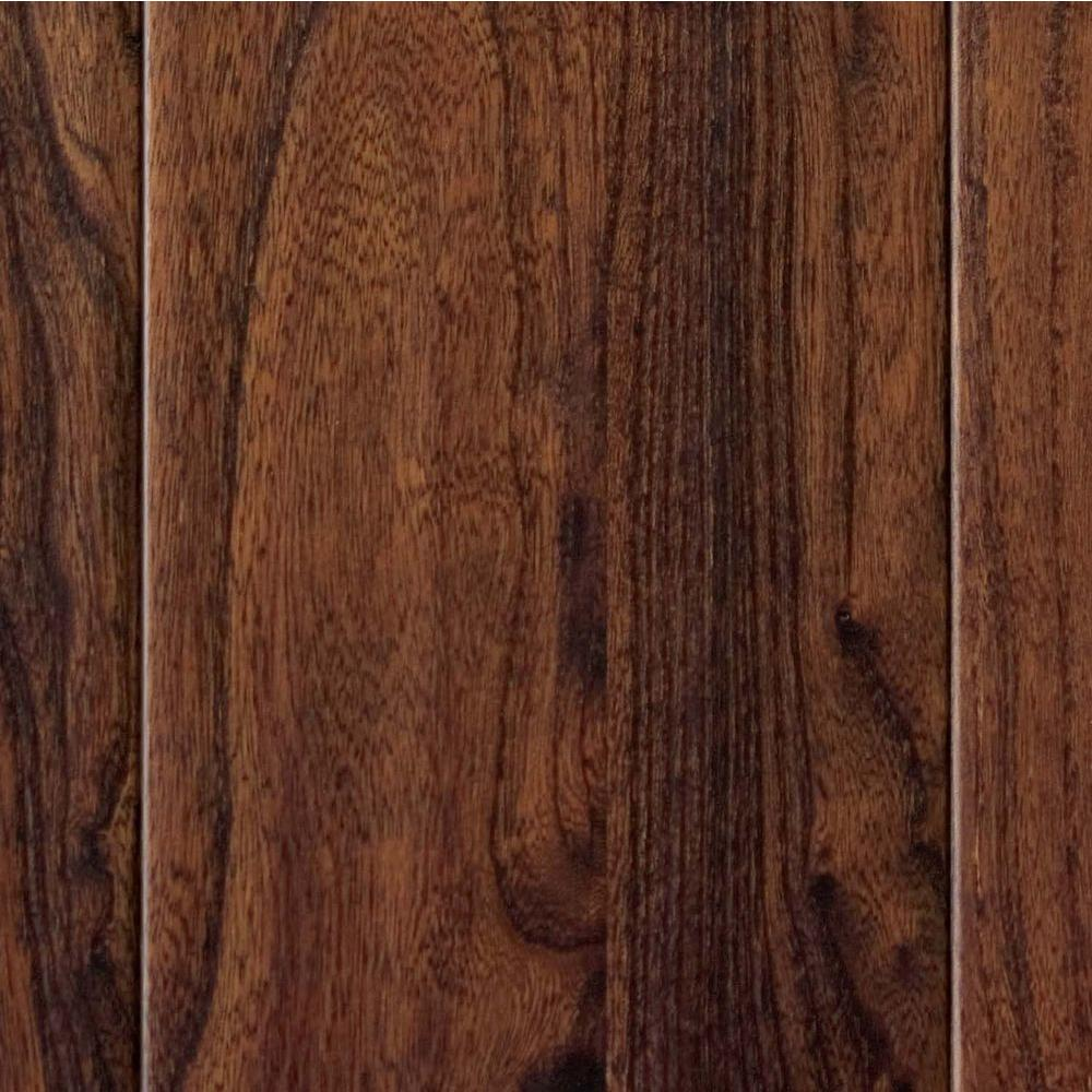 Home Legend Hand Scraped Elm Walnut 3/8 in. Thick x 3-1/2 in. Wide x 35-1/2 in. Length Click Lock Hardwood Flooring-DISCONTINUED