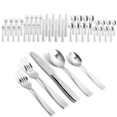 Castleford 40-Piece Stainless Steel Flatware Set