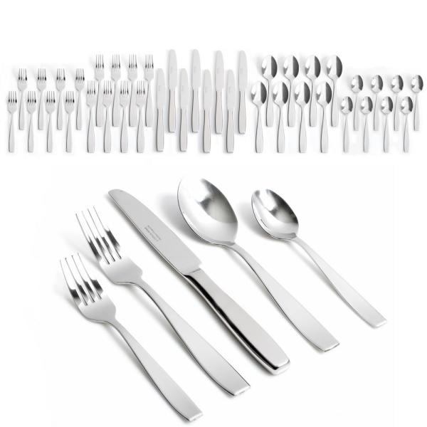 Gibson Home Castleford 40-Piece Stainless Steel Flatware Set 124026.40RM