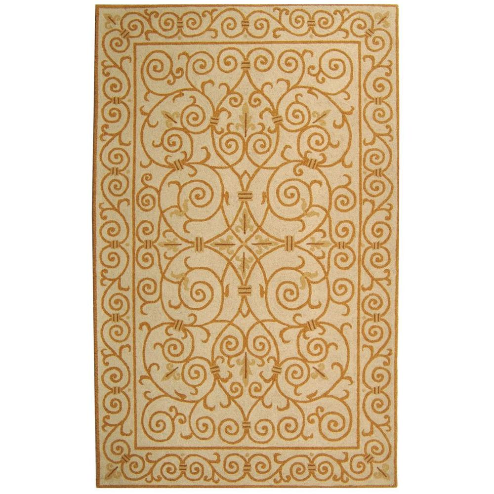 Chelsea Ivory/Gold 6 ft. x 9 ft. Area Rug