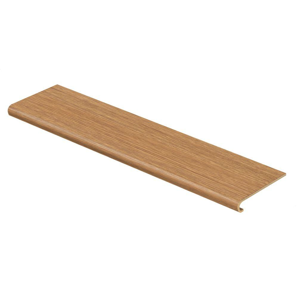 Cap A Tread Belmont Oak 94 in. Length x 12-1/8 in. Deep x 1-11/16 in. Height Laminate to Cover Stairs 1 in. Thick