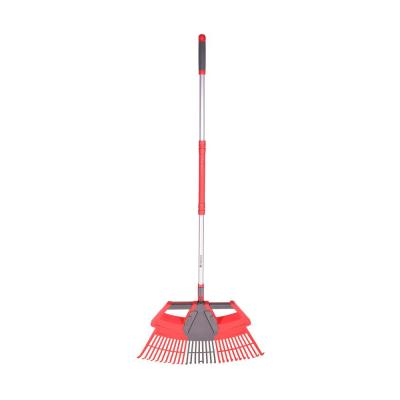 30 in. W 3-in-1 Aluminum Handle Leaf Rake