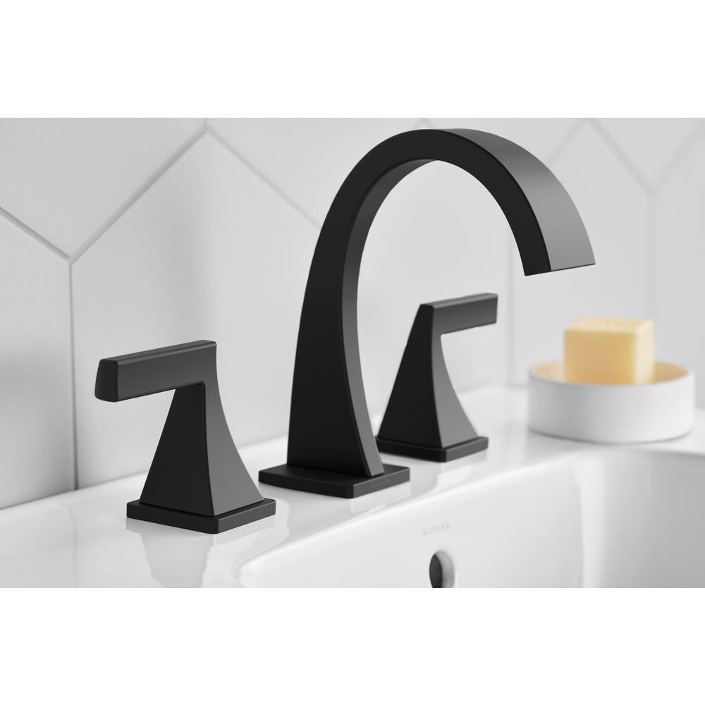 "Kohler Katun K-R78039-4D1-BL 8-16/"" Widespread Bathroom Faucet Matte Black #K1"