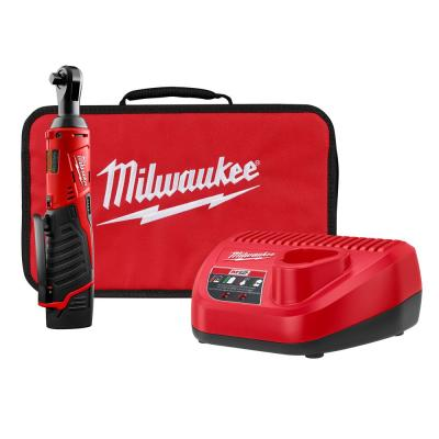 M12 12-Volt 3/8 in. Lithium-Ion Cordless Ratchet Kit with 1.5Ah Battery, Charger and Tool Bag