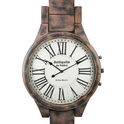 Pop's Distressed Brown Wristband Wall Clock