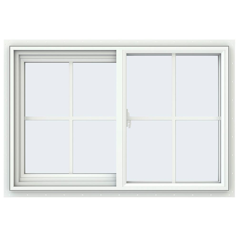 35.5 in. x 23.5 in. V-2500 Series Left-Hand Sliding Vinyl Window