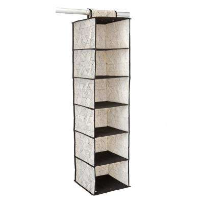 12 in. x 12 in. x 46 in. Geo Natural 6 Shelf Closet Organizer