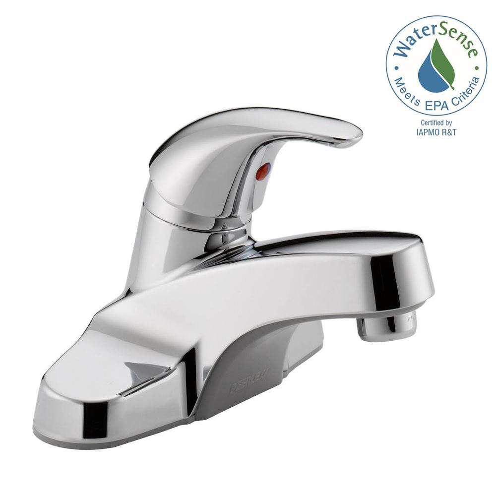 Kitchen Sink Faucets Home Depot: Peerless Core 4 In. Centerset Single-Handle Bathroom