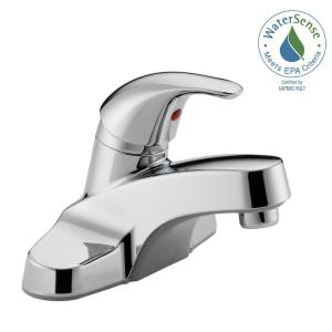 Bathroom Faucet Making Noise delta foundations 4 in. centerset single-handle bathroom faucet in