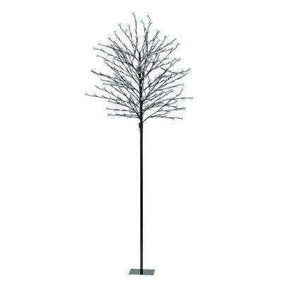 82.63 in. Black LED Tree Post Light