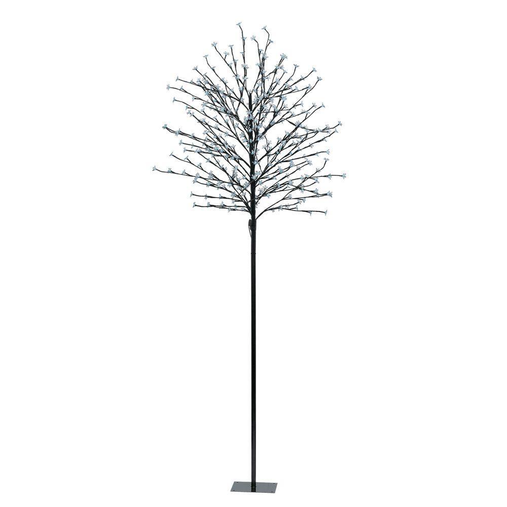 82.63 in. Black LED Tree Post Light