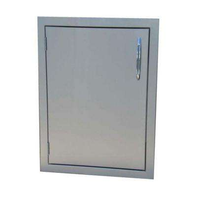 Precision Stainless Steel 24 in. Vertical Built-In Single Access Door