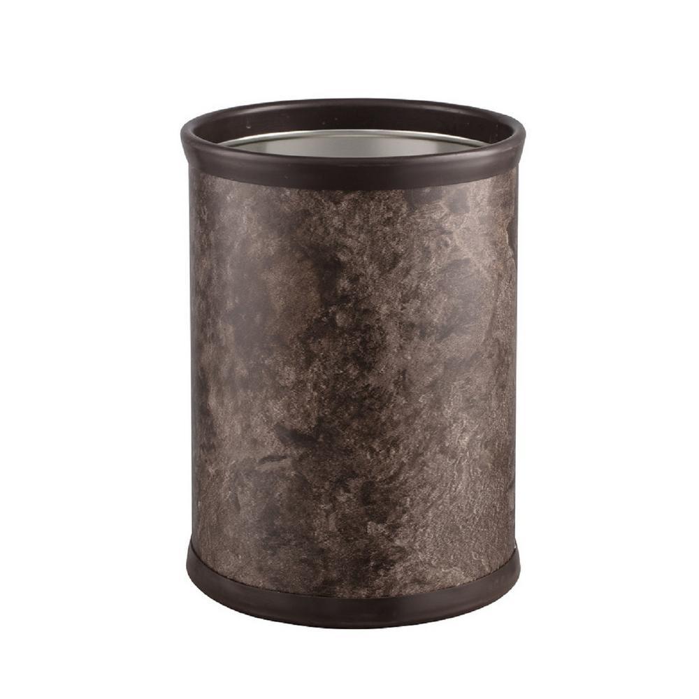 Quarry 8 Qt. Tunisia Stone Round Waste Basket