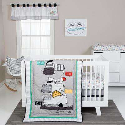Hello 4-Piece Crib Bedding Set