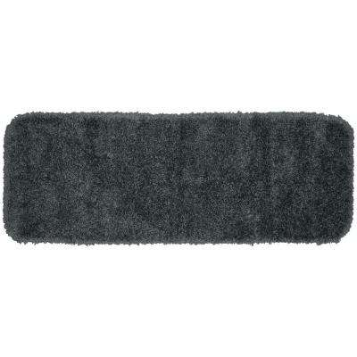Serendipity Dark Gray 22 in. x 60 in. Washable Bathroom Accent Rug