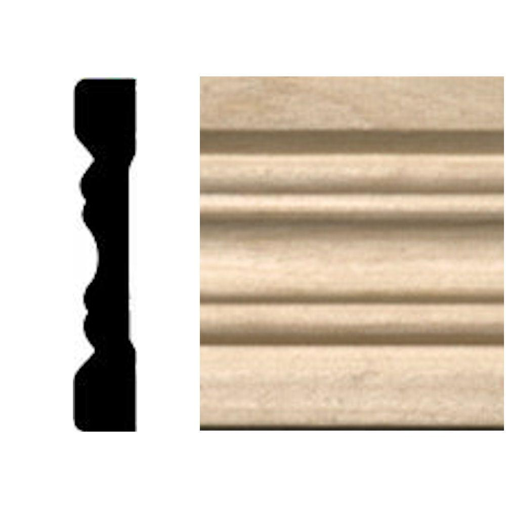 7 Chair Rail Part - 20: House Of Fara 3/8 In. X 2-1/4 In. X 7 Ft. Hardwood Fluted Casing/Chair Rail  Moulding-615 - The Home Depot