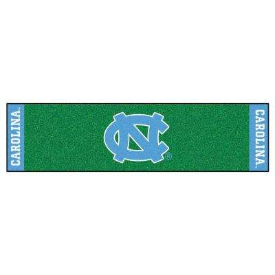 NCAA University of North Carolina Chapel Hill 1 ft. 6 in. x 6 ft. Indoor 1-Hole Golf Practice Putting Green