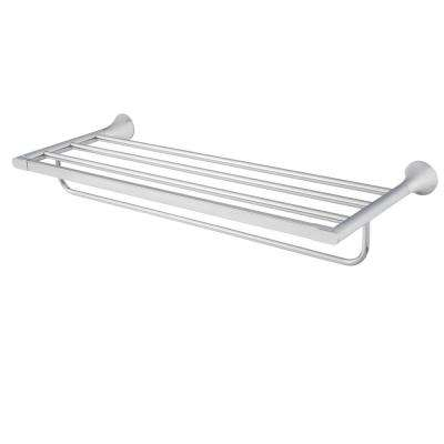 Lewes 24 in. Towel Rack in Polished Chrome
