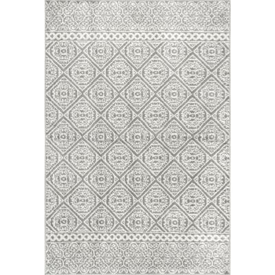 Jeanette Floral Gray 7 ft. x 9 ft.  Area Rug