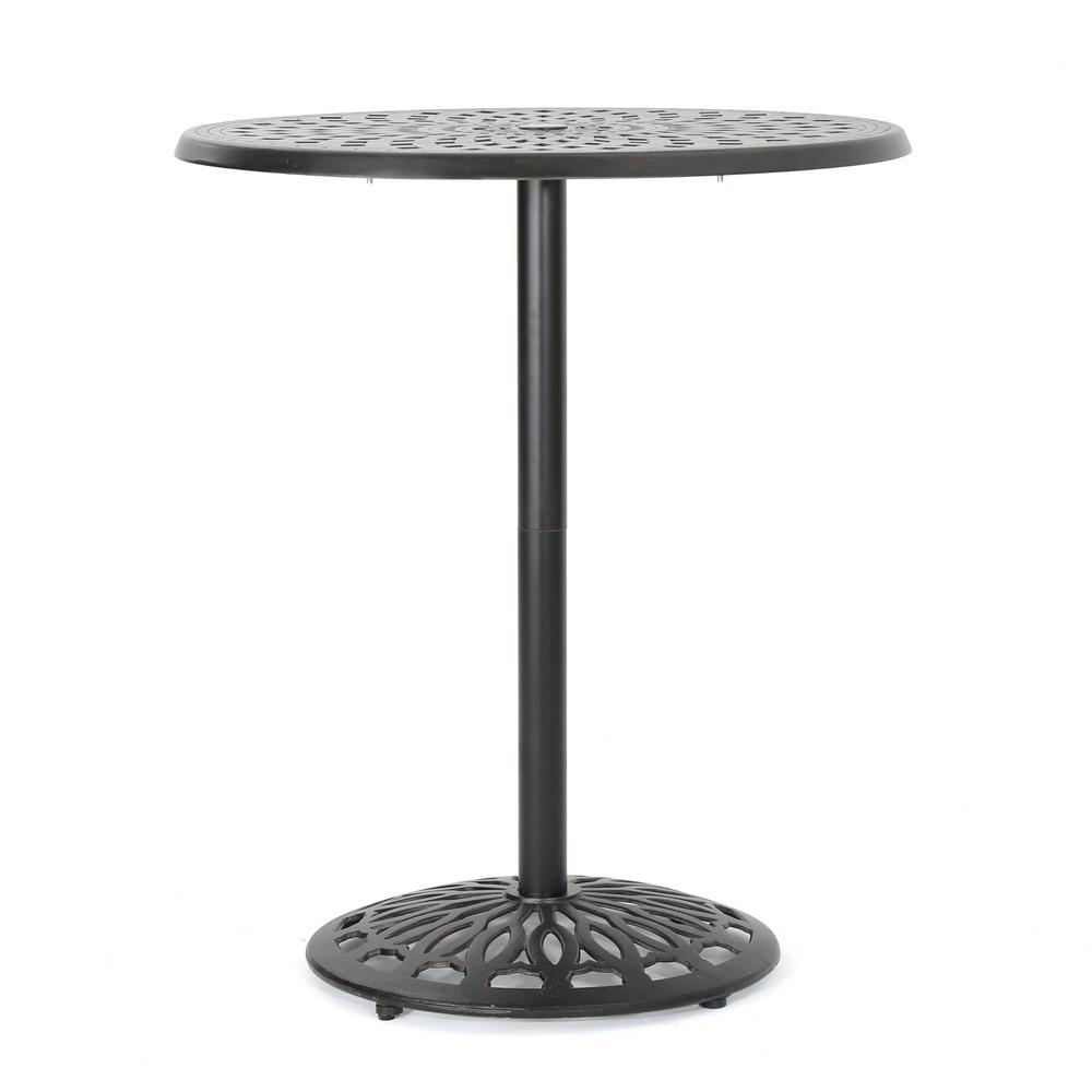 Arlana Shiny Copper Aluminum Outdoor Accent Table