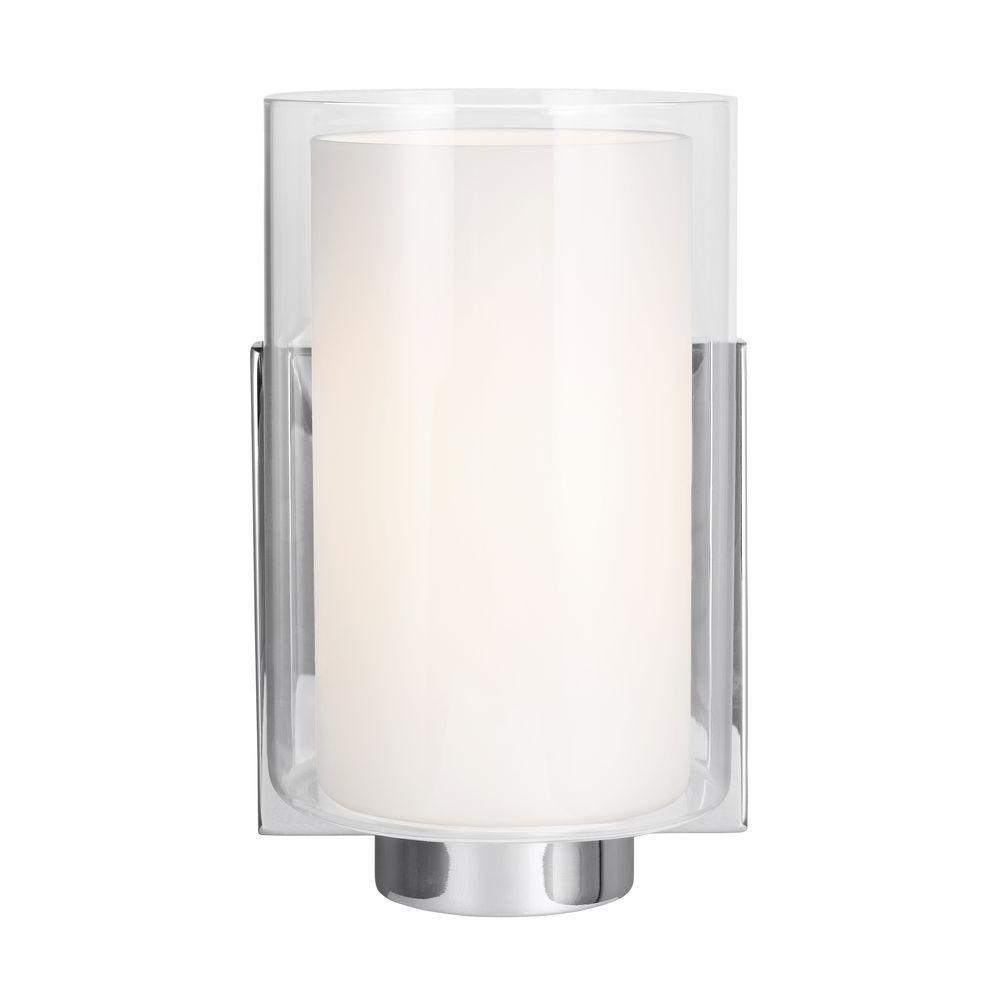 Bergin 1-Light Chrome Wall Bath Light