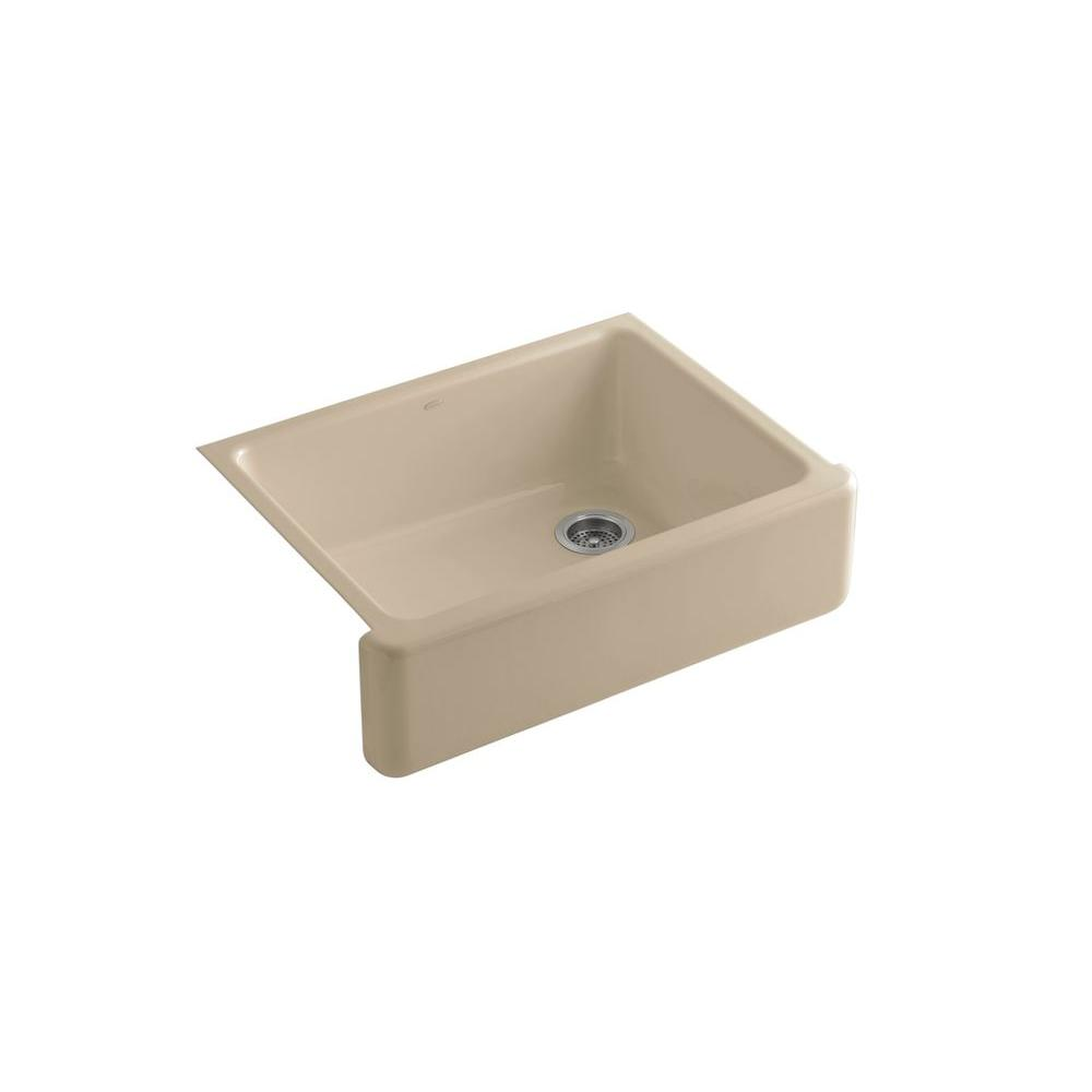 Kohler Whitehaven Undermount Farmhouse Apron Front Cast Iron 33 In Single Basin Kitchen Sink In