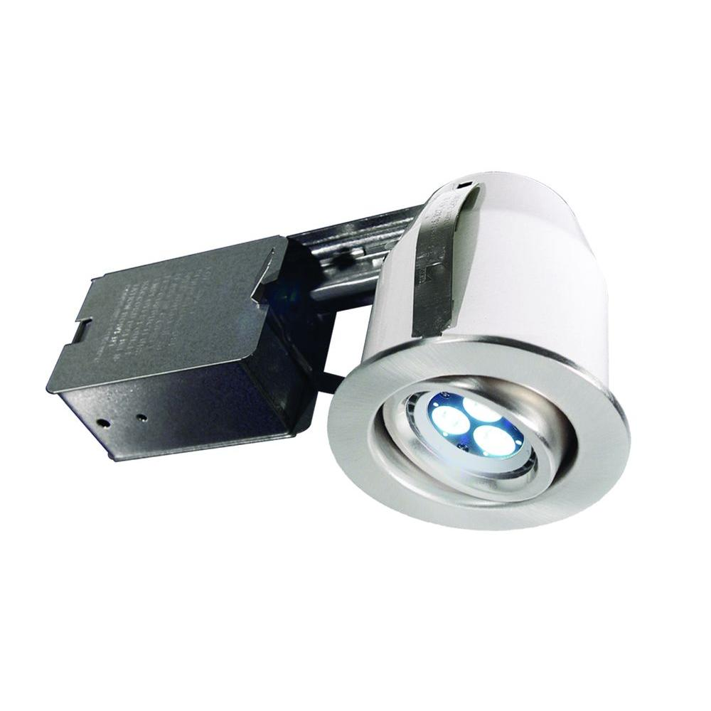 BAZZ 303 Series 3 in. Brushed Chrome LED Recessed Lighting Kit-DISCONTINUED