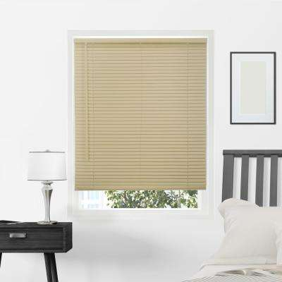 Gloss Cappuccino Cordless 1 in. Vinyl Mini Blind - 39 in. W x 64 in. L
