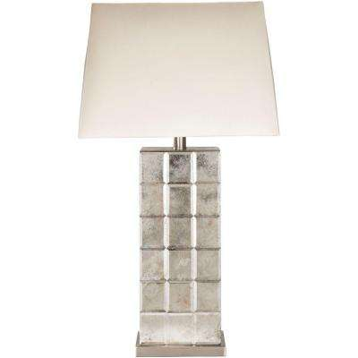 Selker 27 in. Antiqued Mirror Indoor Table Lamp