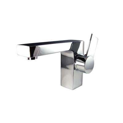 Isarus Single Hole 1-Handle Low-Arc Bathroom Faucet in Chrome