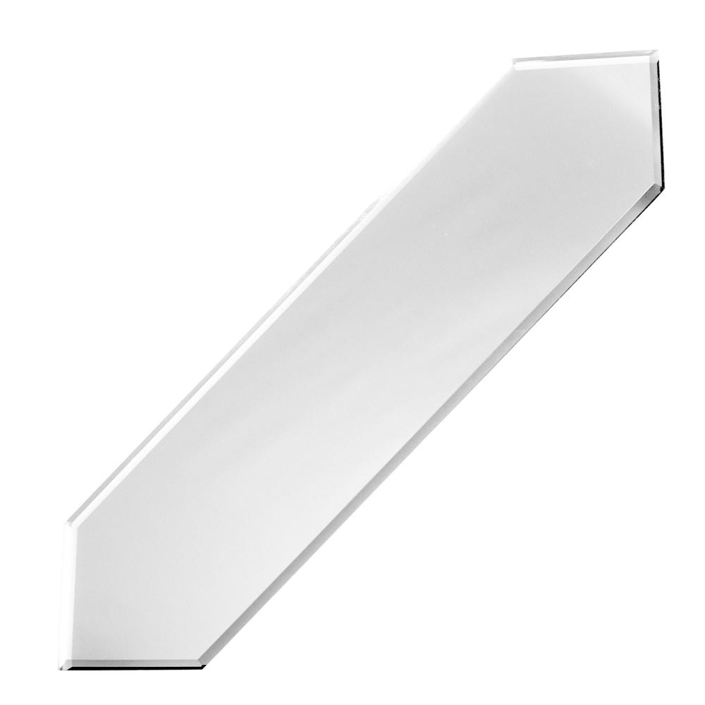 ABOLOS Reflections Silver Beveled Picket 3 in. x 12 in. Glossy Glass Mirror Wall Tile (0.21 Sq. ft./Pc)