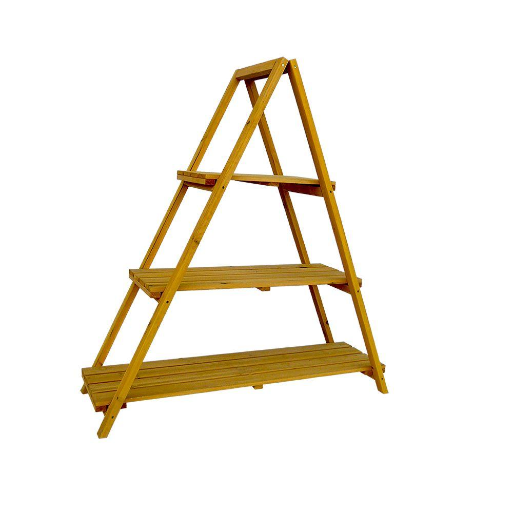 Design Plant Stands leisure season 53 in w x 48 h wooden ladder plant stand stand