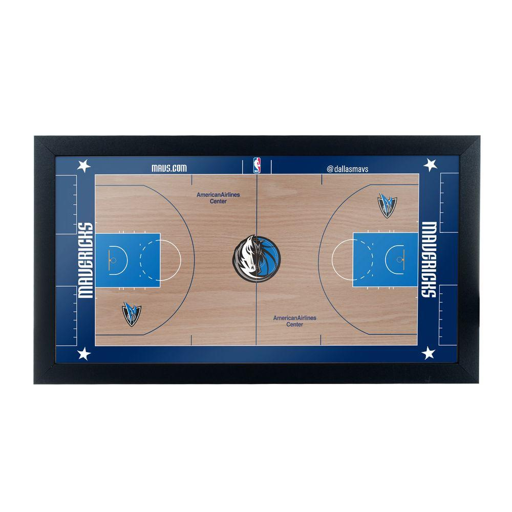 Dallas Mavericks Official NBA Court 15 in. x 26 in. Black