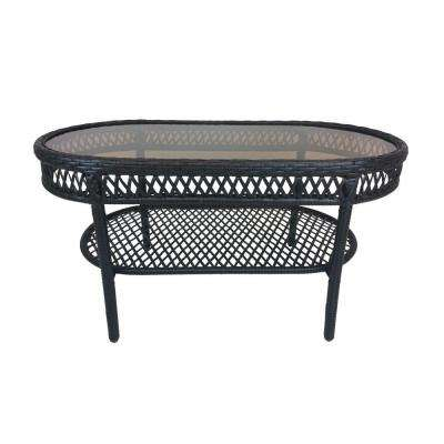 Elite Resin Wicker Oblong Patio Coffee Table