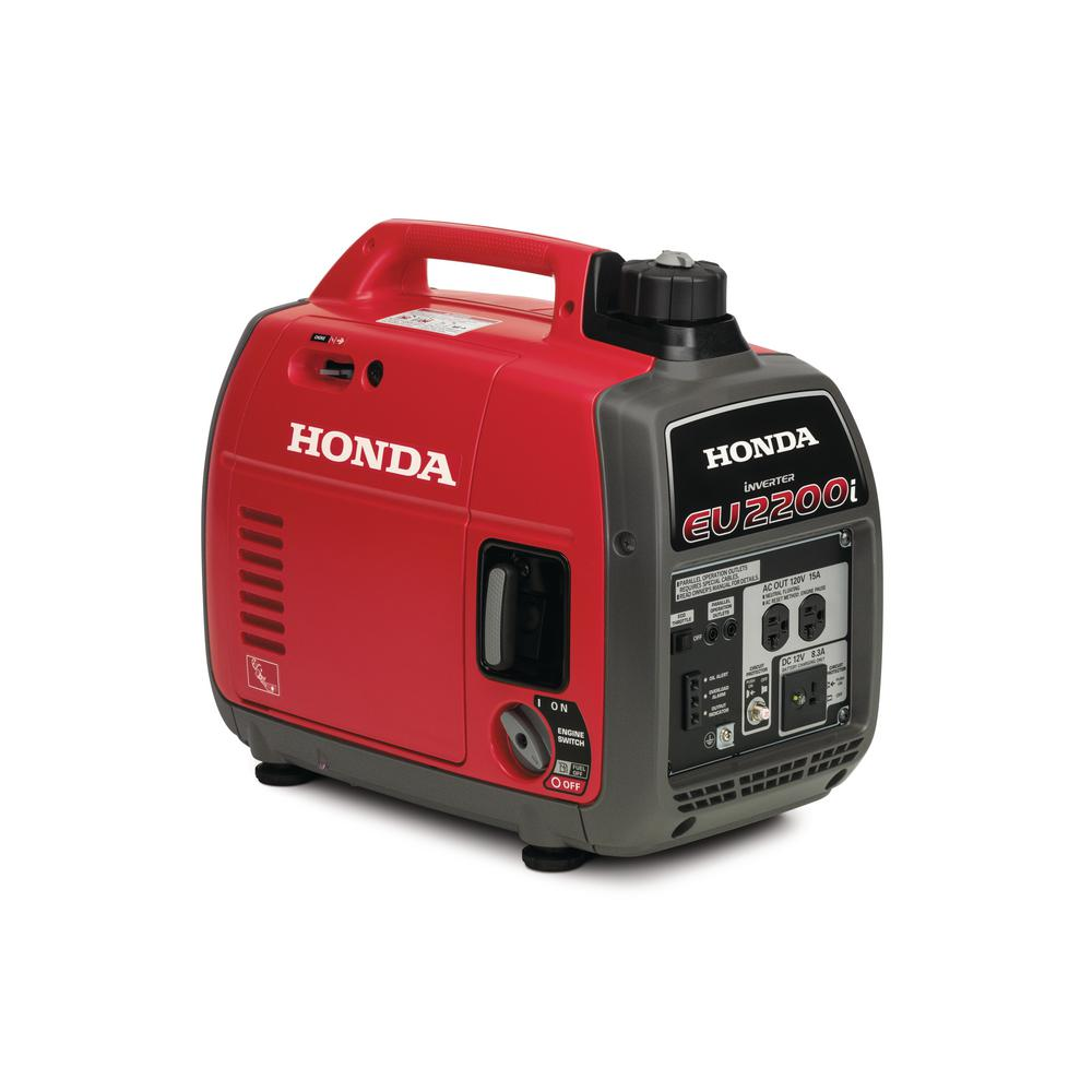 Honda Gasoline Powered Portable Generator with Eco-Throttle and Oil Alert