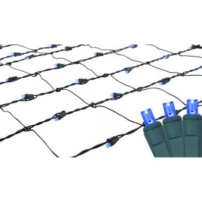 4 ft. x 6 ft. Blue LED Net Style Christmas Lights with Green Wire