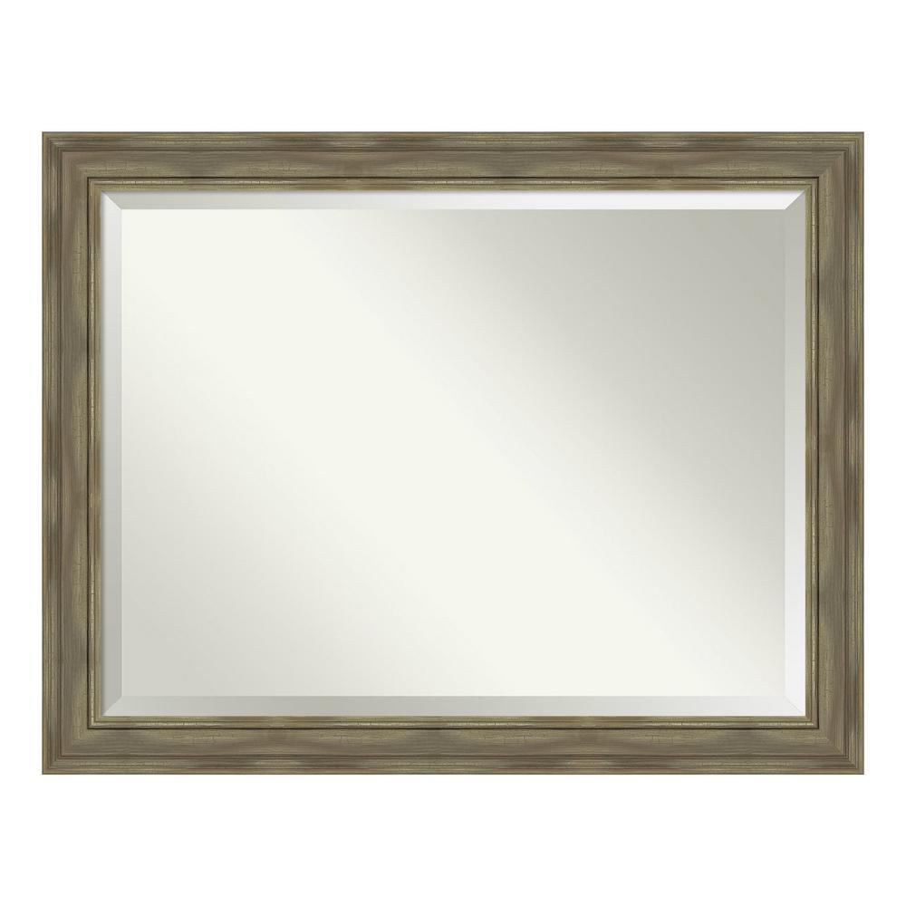 Amanti Art Alexandria Greywash Bathroom Vanity Mirror DSW4094433