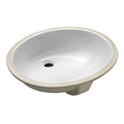 Caxton Vitreous China Undermount Vitreous China Bathroom Sink in White with Overflow Drain