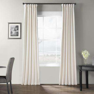 Birch Bark Weave Solid Cotton Curtain in Ivory  - 50 in. W x 96 in. L