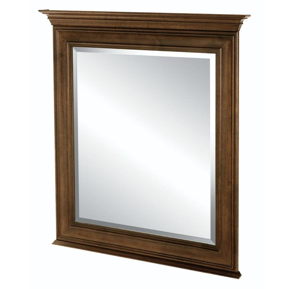 Home Decorators Collection Templin 30 in. x 34 in. Framed Wall Mirror in Coffee