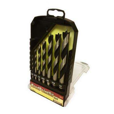 Brad Point Drill Bit Set (7-Piece)