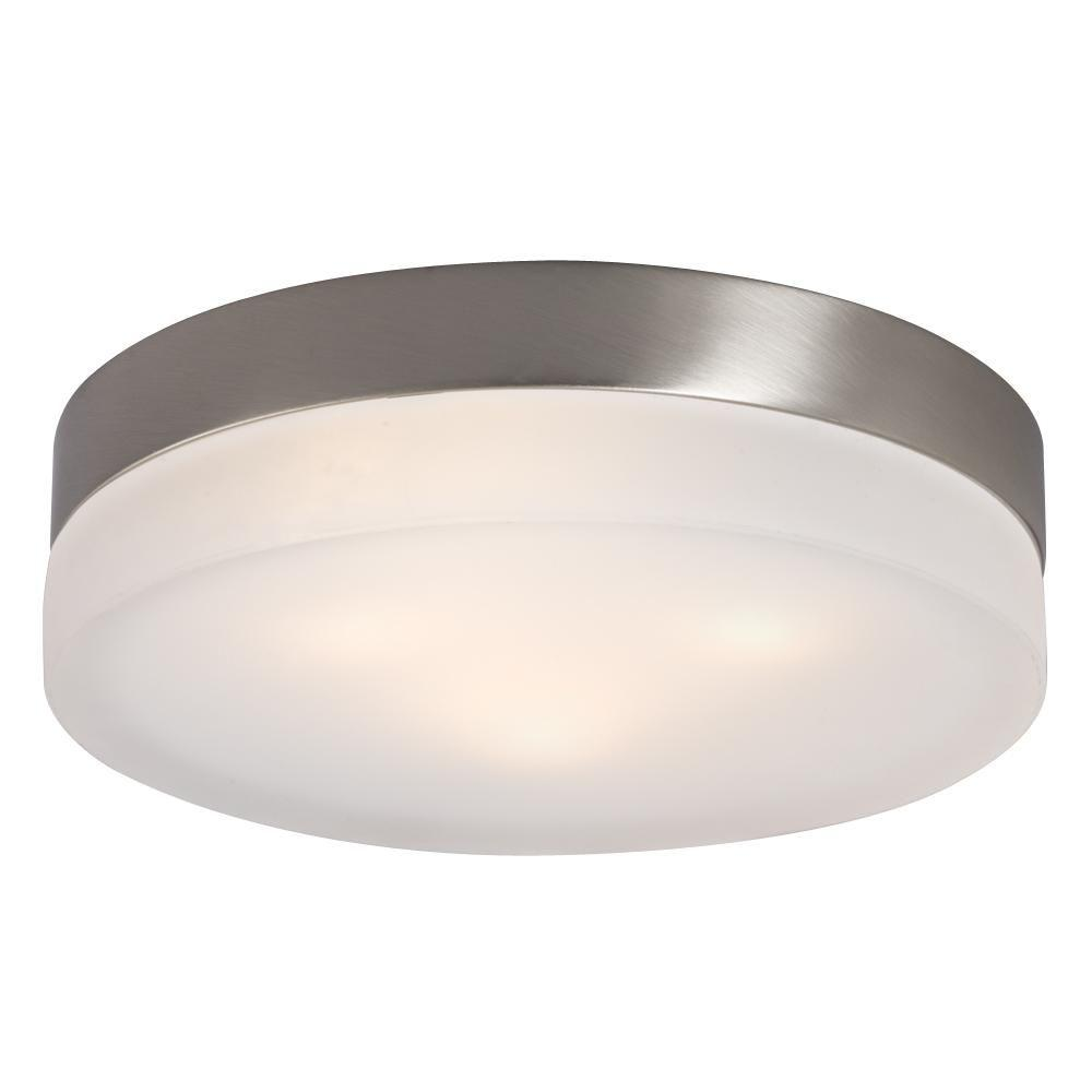 Filament Design Negron 3-Light Brushed Nickel Halogen Flushmount