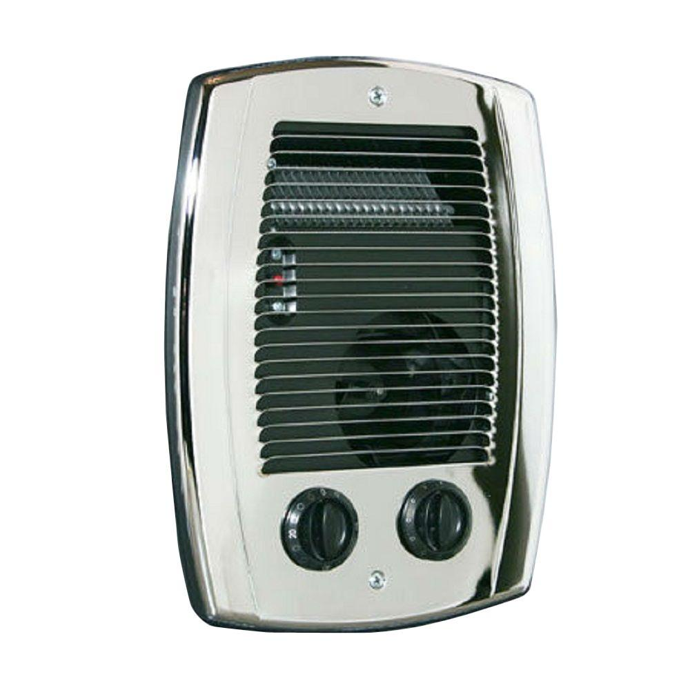 Wall mounted electric bathroom fan heaters - Cadet Com Pak 1 000 Watt In Wall Fan Forced Bathroom Heater In