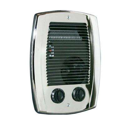 Com-Pak 1,000-Watt In-Wall Fan-Forced Bathroom Heater in Chrome