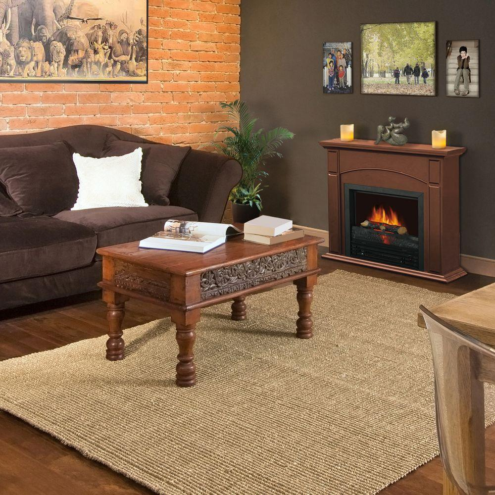 Quality Craft 28 in. Electric Fireplace in Chestnut