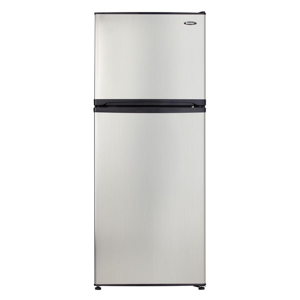 Danby 10 cu. ft. Top Freezer Refrigerator in Spotless Steel, Counter Depth-DISCONTINUED