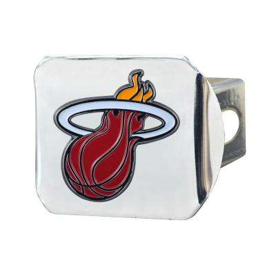 NBA Miami Heat Color Emblem on Chrome Hitch Cover