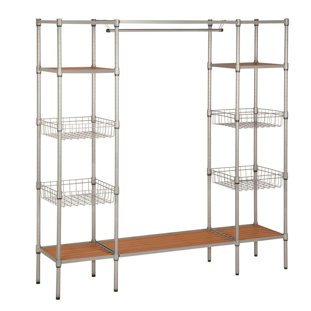 Honey Can Do 68 In X 165 In Freestanding Closet Organizer Wrd