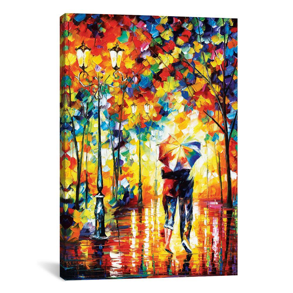 ''Under One Umbrella'' by Leonid Afremov Canvas Wall Art