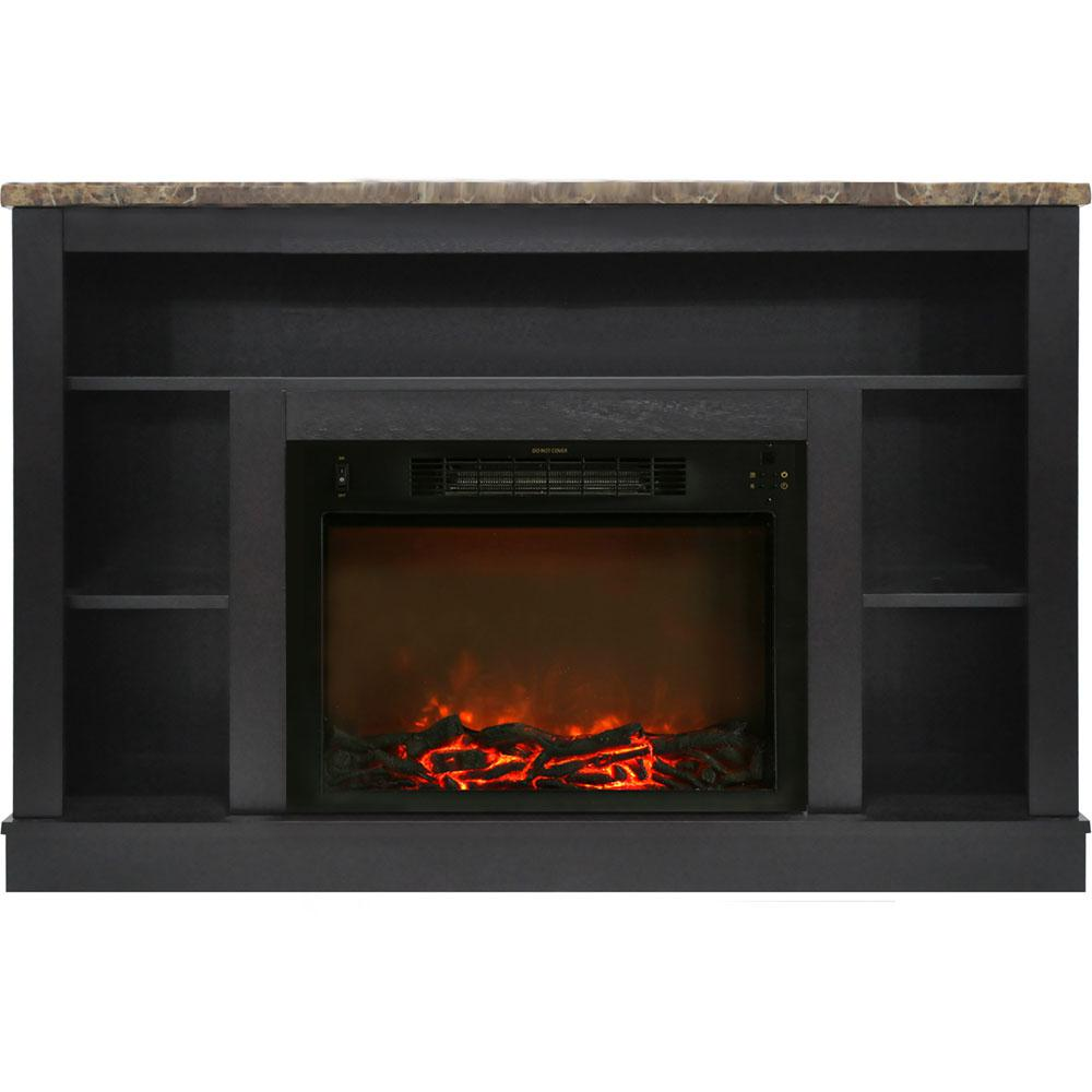 hanover oxford 47 in electric fireplace with a 1500 watt log